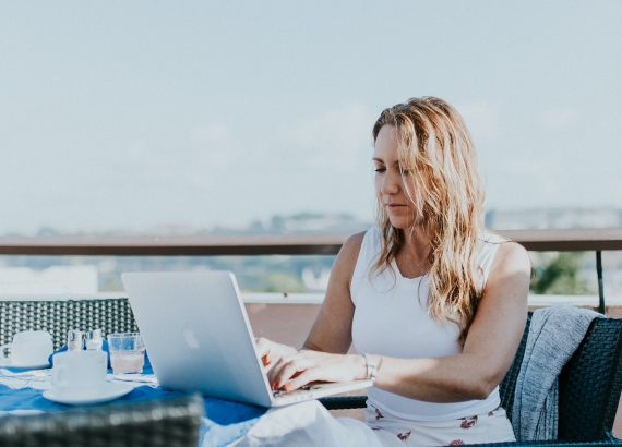 Woman Remote Working
